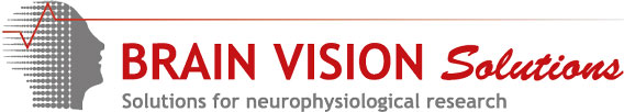 Sponsor logo: Brain Vision Solutions - Solutions for neurophysiological research
